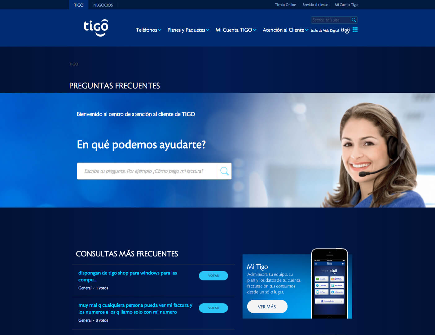 Tigo Faqs Home
