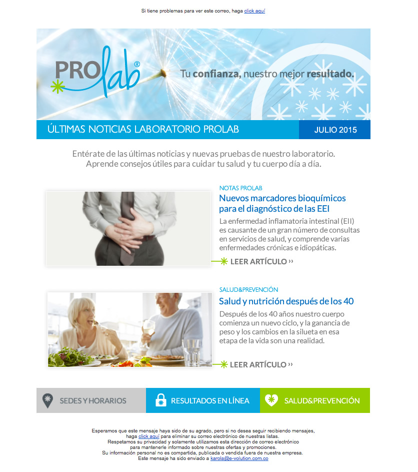 Prolab Newsletter